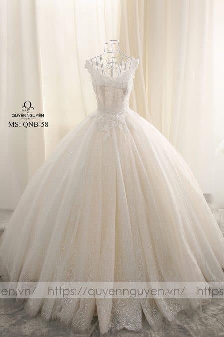 Váy cưới dáng bồng QNB 58