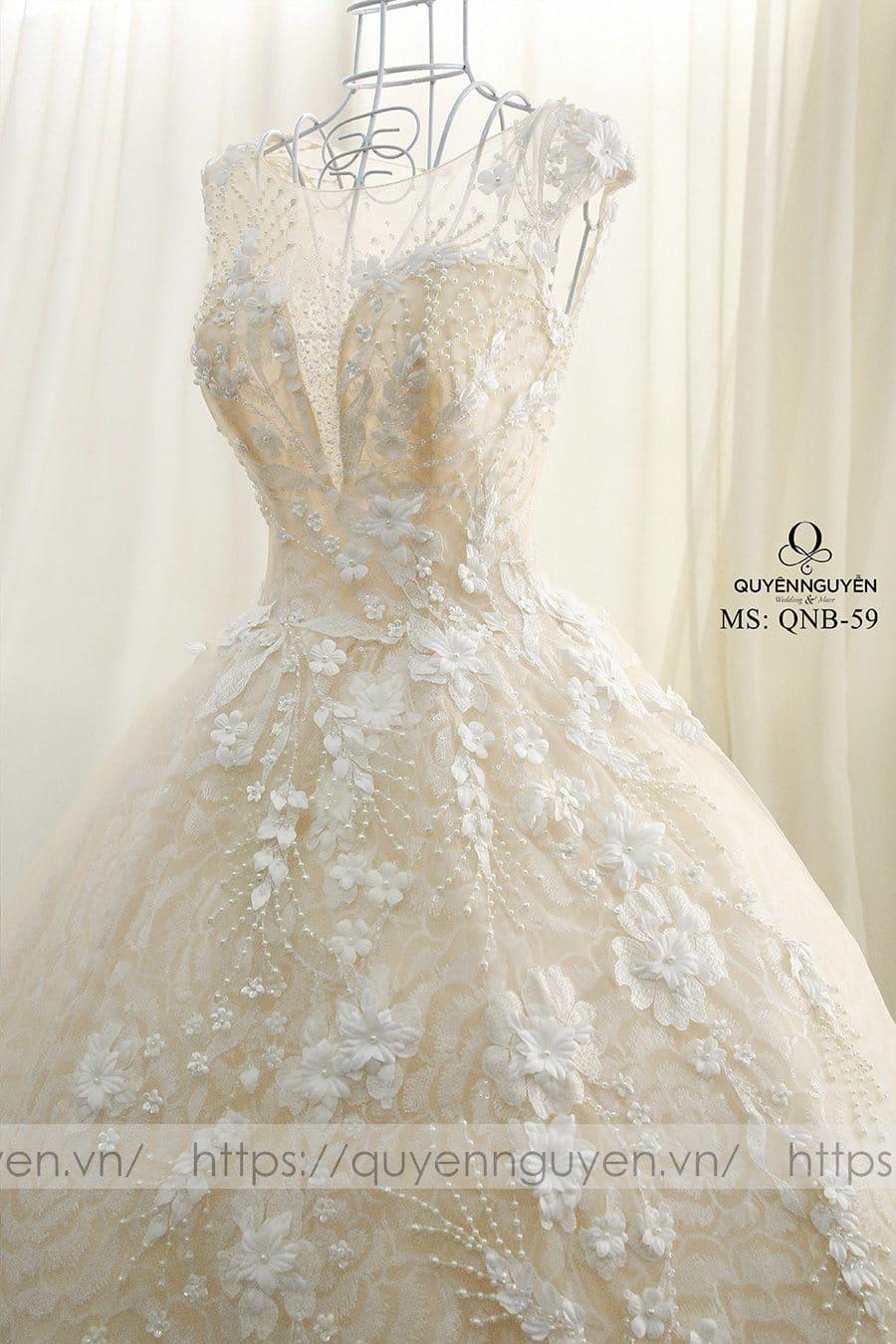 Váy cưới dáng bồng công chúa QNB 59