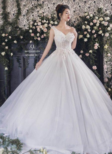 Váy cưới dáng bồng QNB 001
