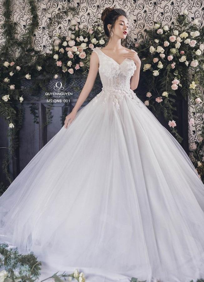 Váy cưới dáng bồng công chúa QNB 001