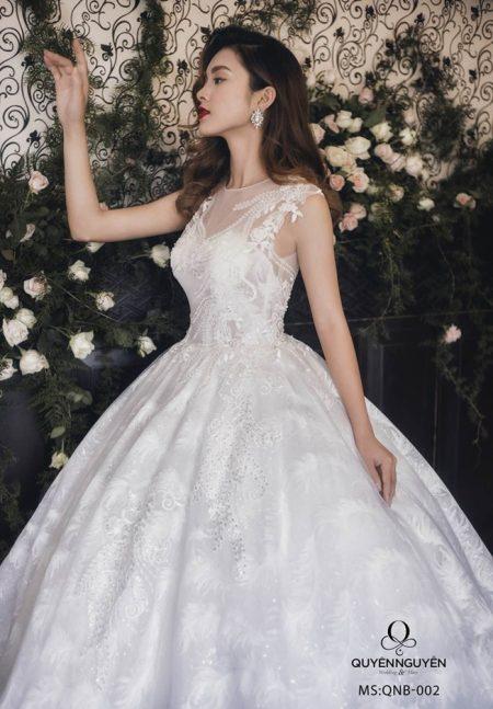 Váy cưới dáng bồng QNB 002