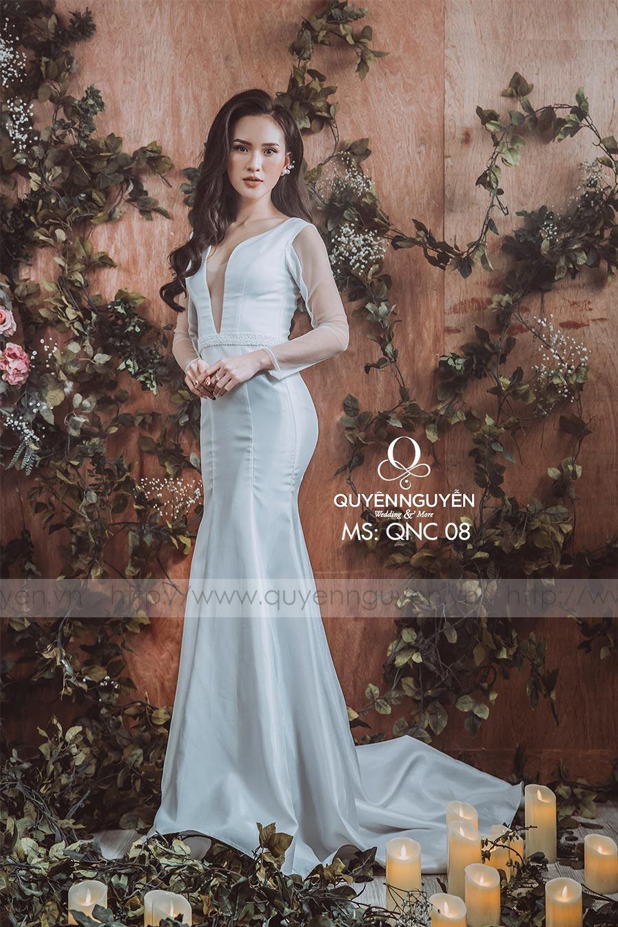 Váy cưới dáng cá QNC 08