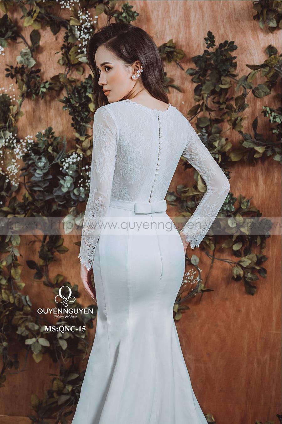 Váy cưới dáng cá QNC 15