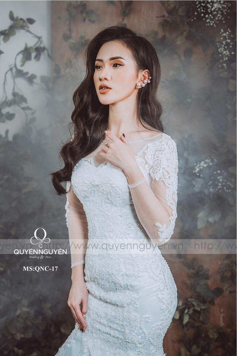 Váy cưới dáng cá QNC 17