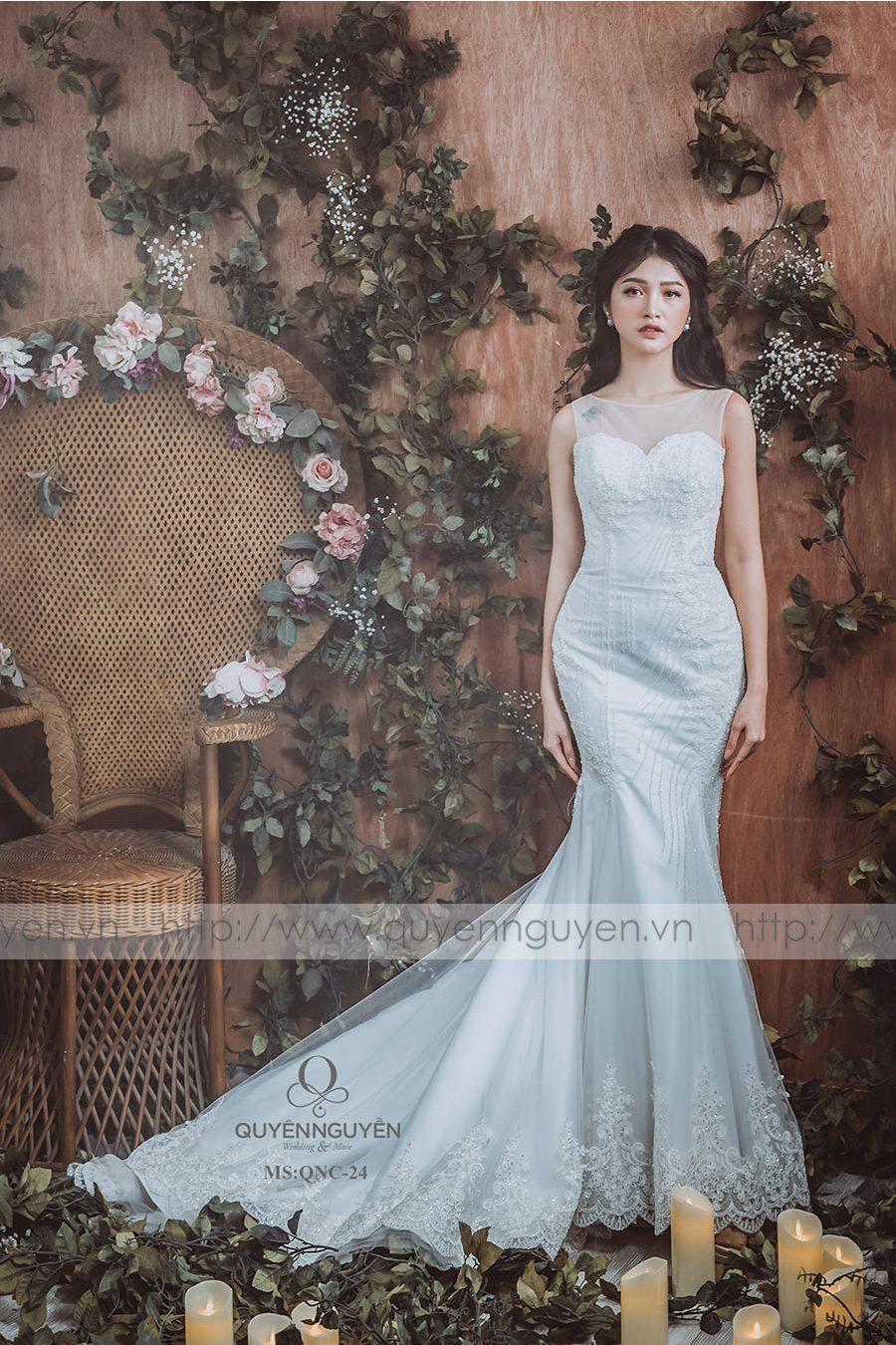 Váy cưới dáng cá QNC24