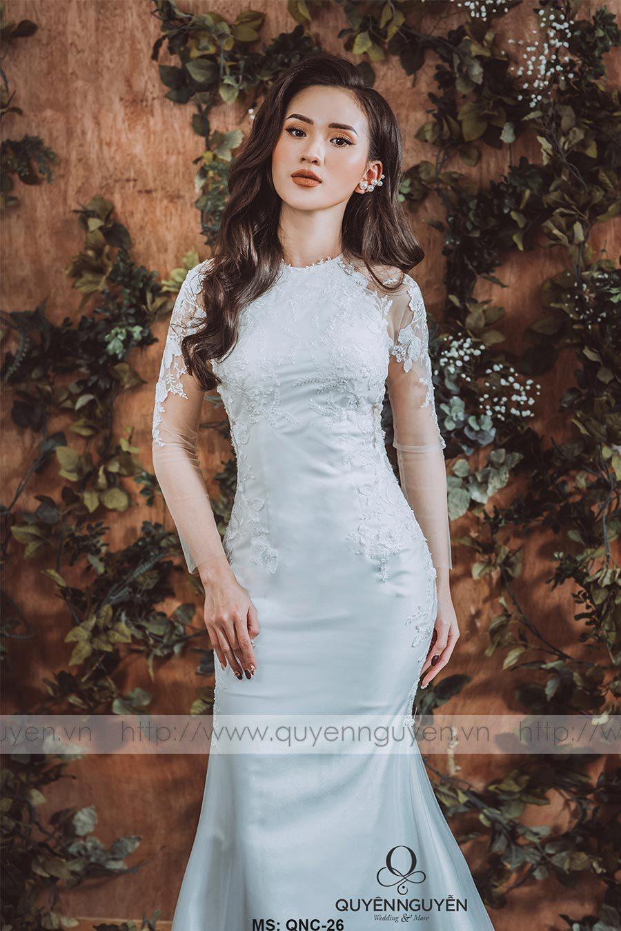 Váy cưới dáng cá QNC 26
