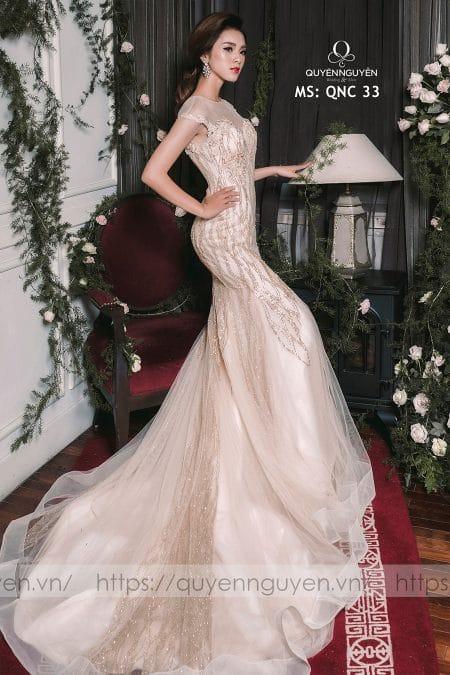 Váy cưới dáng cá QNC 33