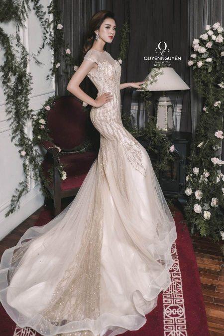 Váy cưới đuôi cá QNC 001