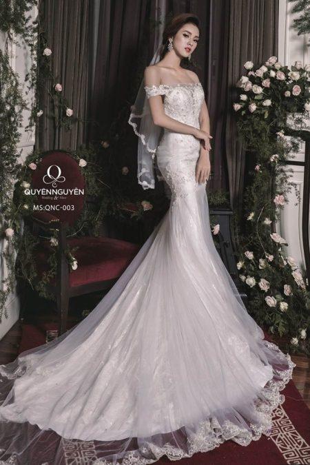 Váy cưới đuôi cá QNC 003