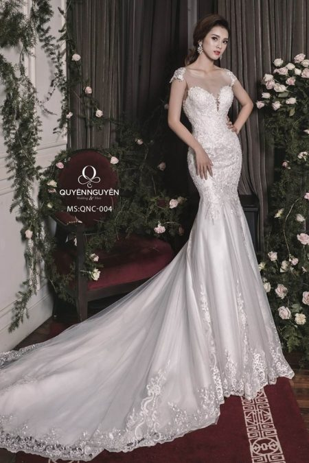 Váy cưới đuôi cá QNC 004