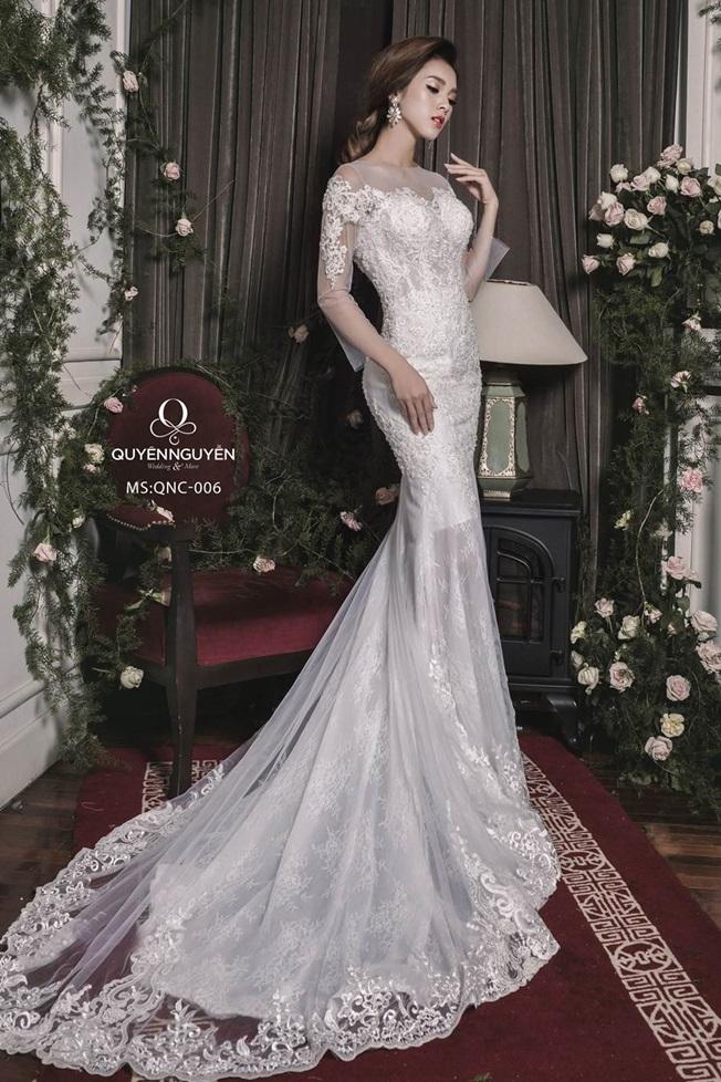 Váy cưới dáng cá QNC 006