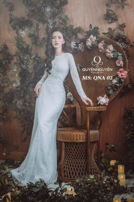 Váy cưới dáng A QNA 02