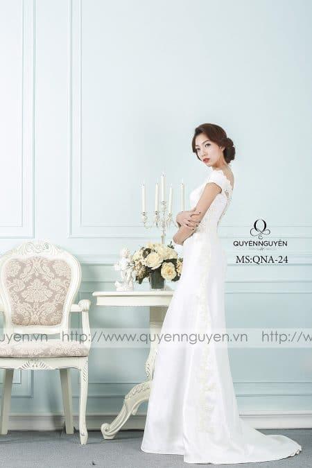 Váy cưới hiện đại dáng A QNA 24