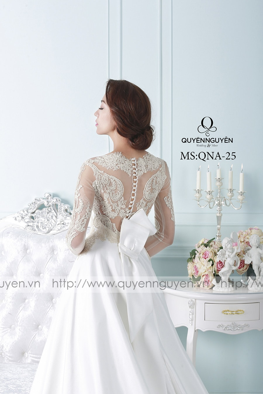 Váy cưới dáng A QNA 25