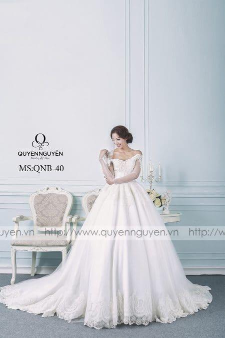 Váy cưới dáng bồng QNB 40