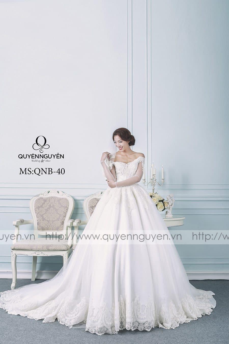 Váy cưới mẫu QNB 40