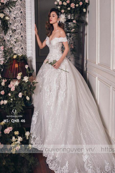 Váy cưới dáng bồng QNB 46