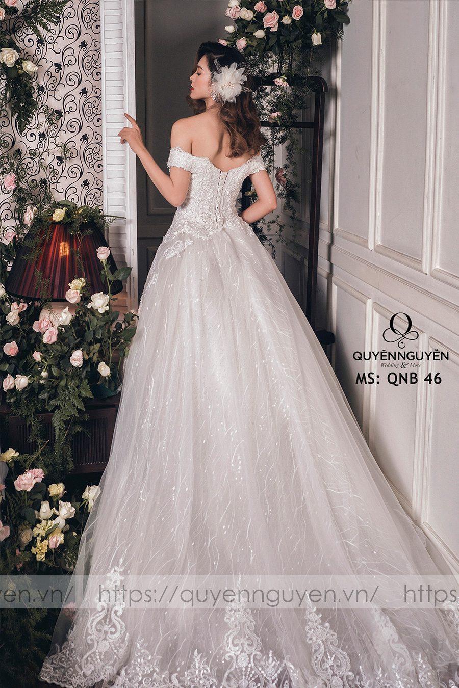 Váy cưới dáng bồng công chúa QNB 46