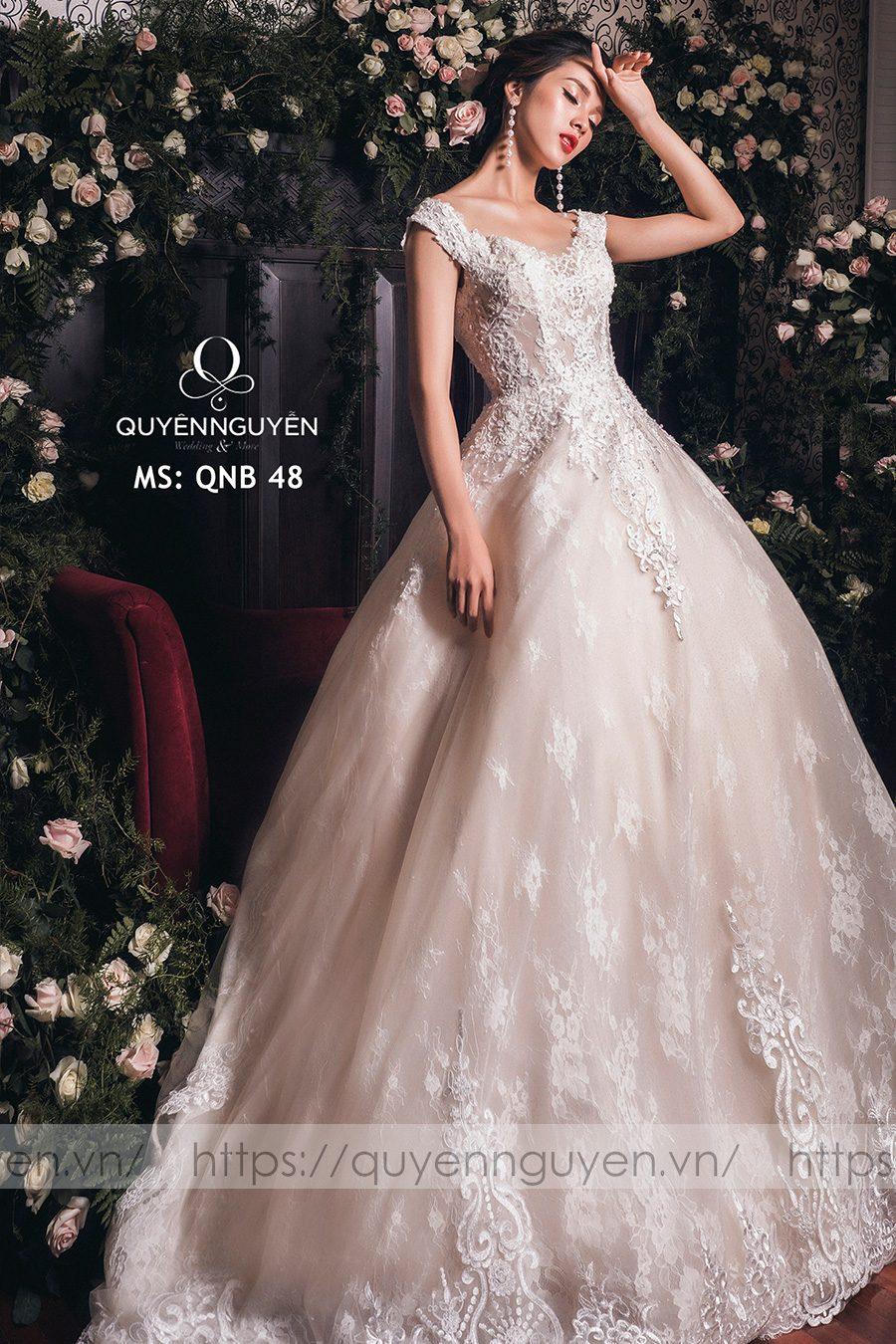 Váy cưới dáng bồng công chúa QNB 48