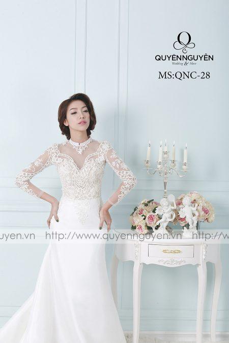 Váy cưới dáng cá QNC 28