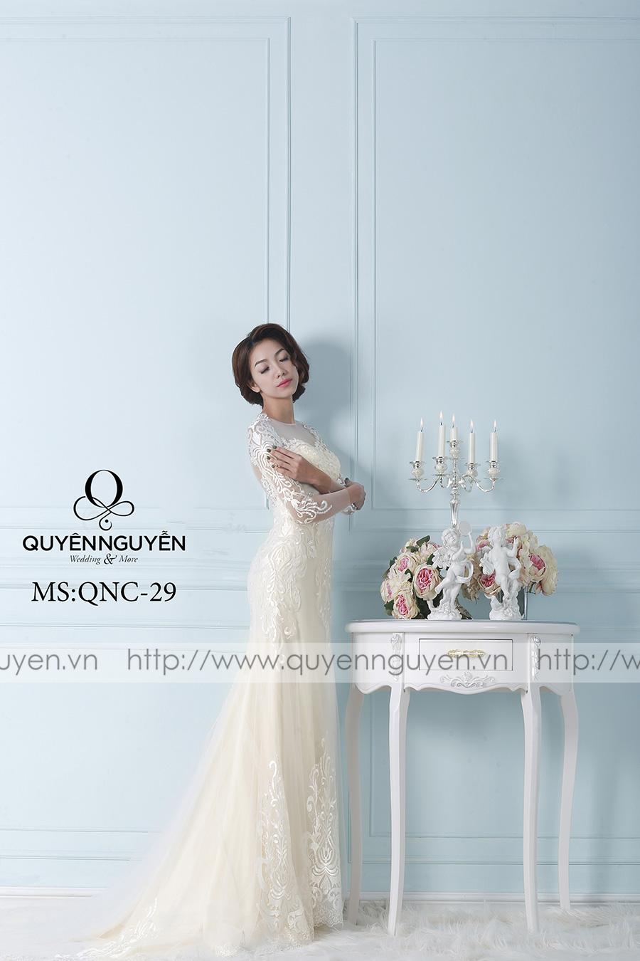 Váy cưới dáng cá QNC 29