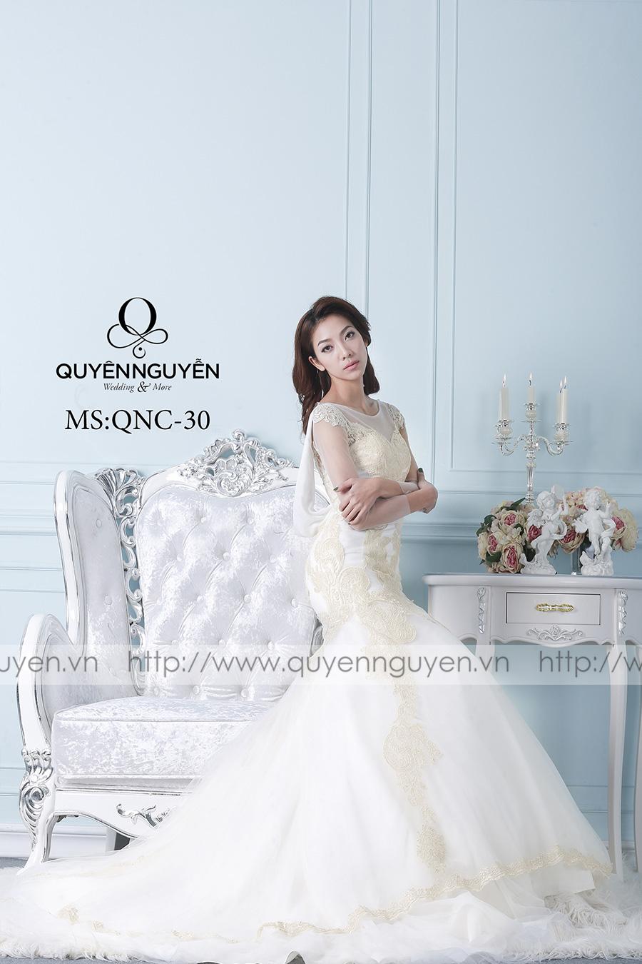 Váy cưới dáng cá QNC 30