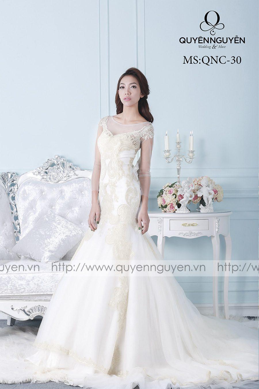Váy cưới mẫu QNC 30