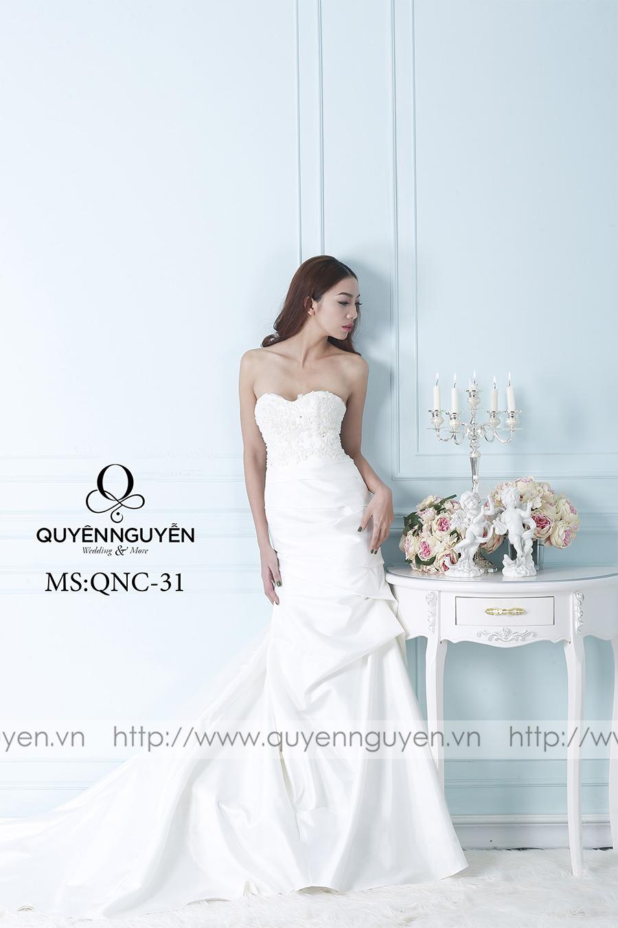 Váy cưới dáng cá QNC 31