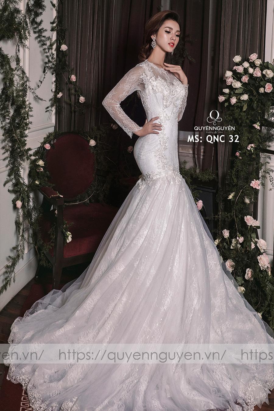 Váy cưới dáng cá QNC 32