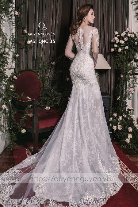 Váy cưới dáng cá QNC 35