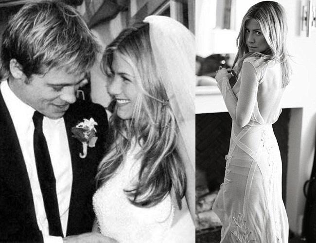 Váy cưới của Jenifer Aniston
