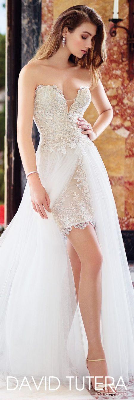 Váy cưới ngắn có đuôi