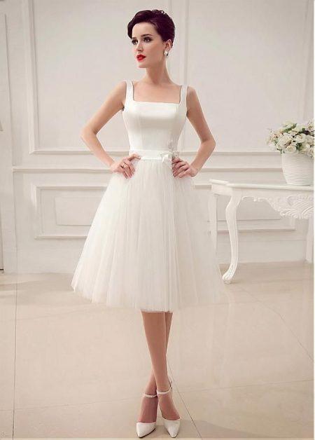 Váy cưới ngắn xòe nhẹ nhàng