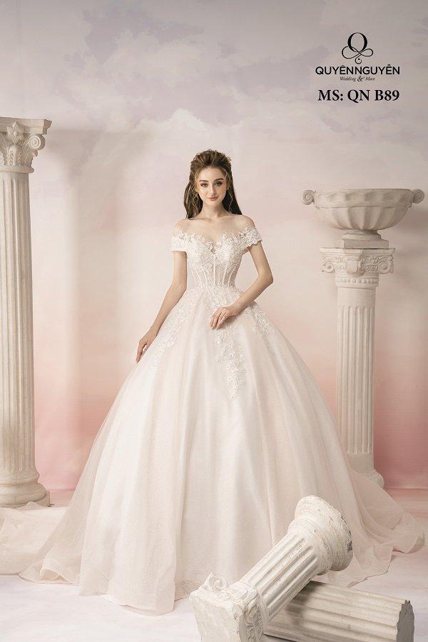 Váy cưới dáng bồng công chúa QNB89