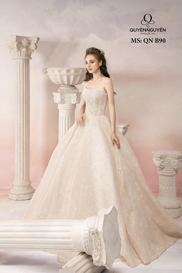 Váy cưới dáng bồng công chúa QNB90