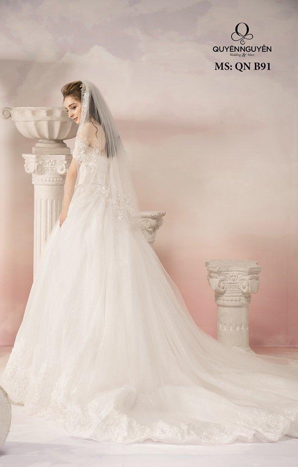 Váy cưới dáng bồng công chúa QNB91