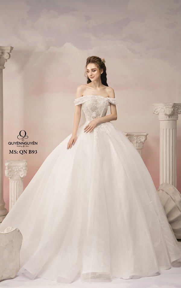 Váy cưới dáng bồng công chúa QNB93