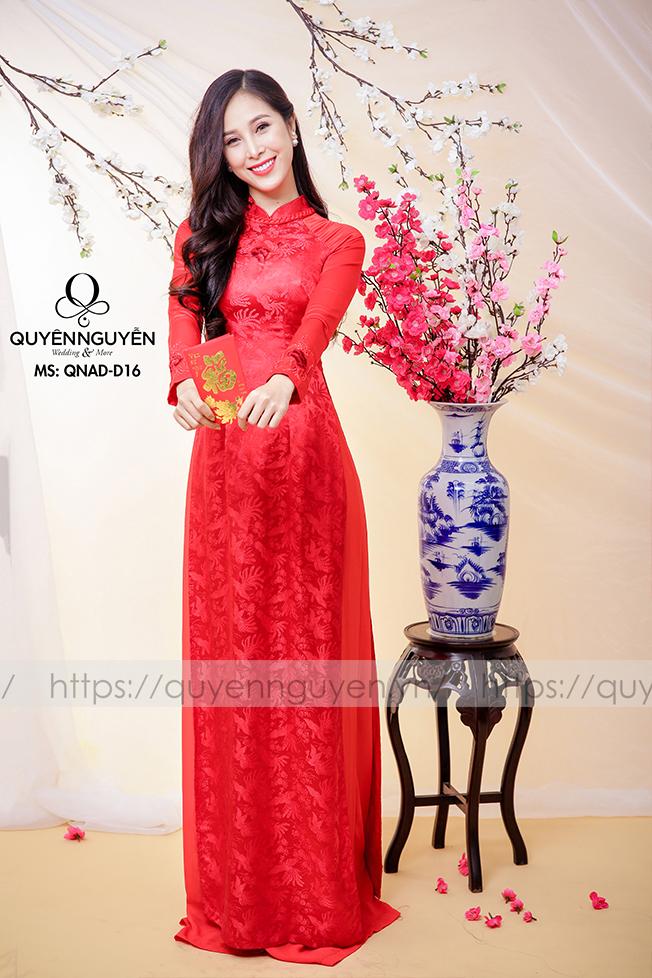 Áo dài đỏ AD D16