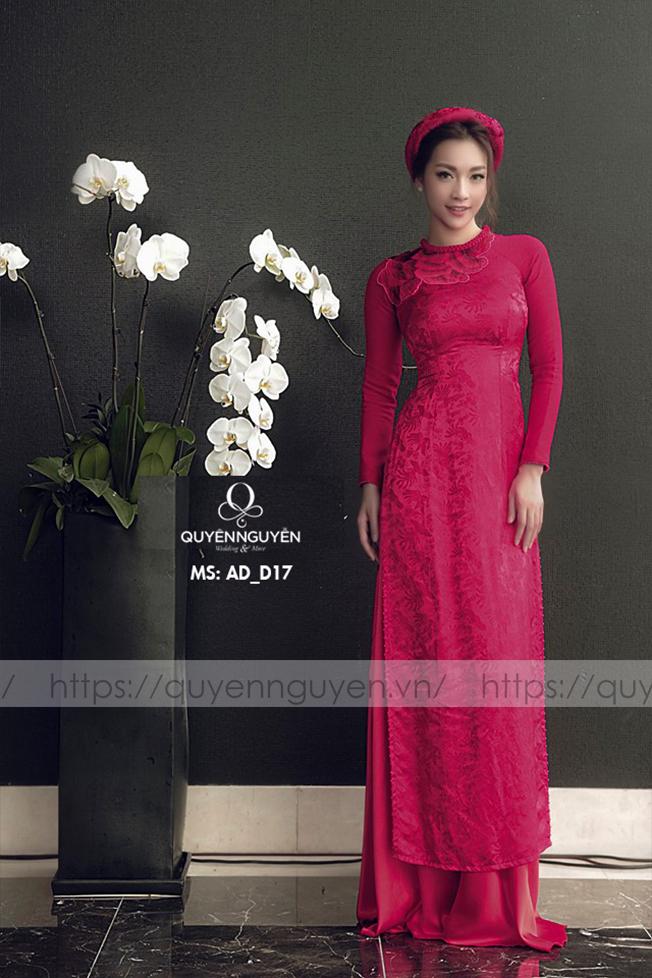 Áo dài đỏ AD D17