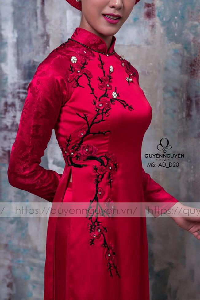Áo dài đỏ AD D20