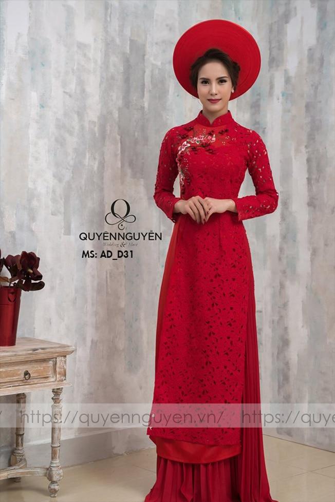 Áo dài đỏ AD D31