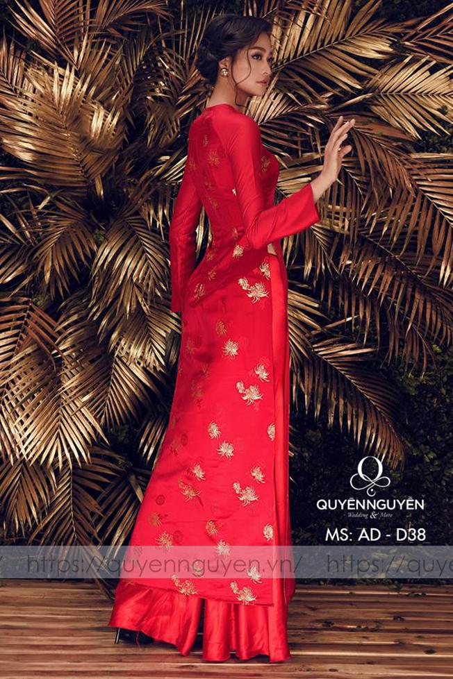 Áo dài đỏ AD D38