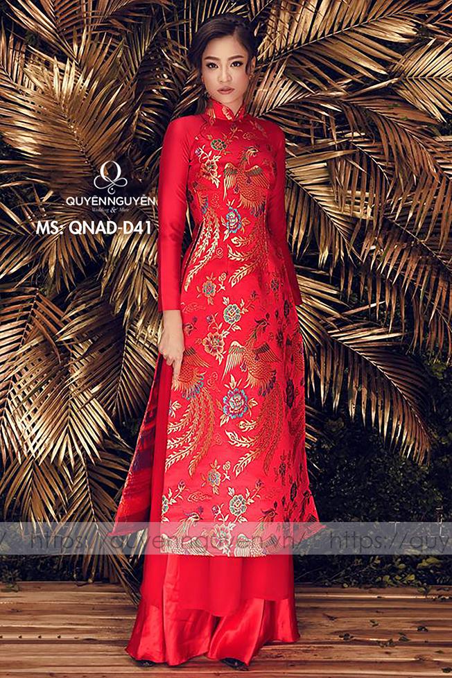 Áo dài đỏ AD D41