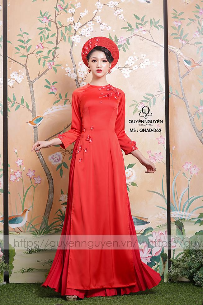 Áo dài cưới lụa đỏ AD-D62