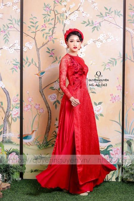 Áo dài hồng AD D63