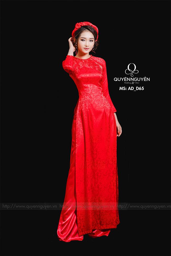 Áo dài đỏ AD D65