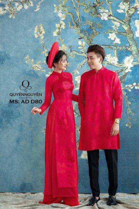 16 mẫu áo dài cưới truyền thống