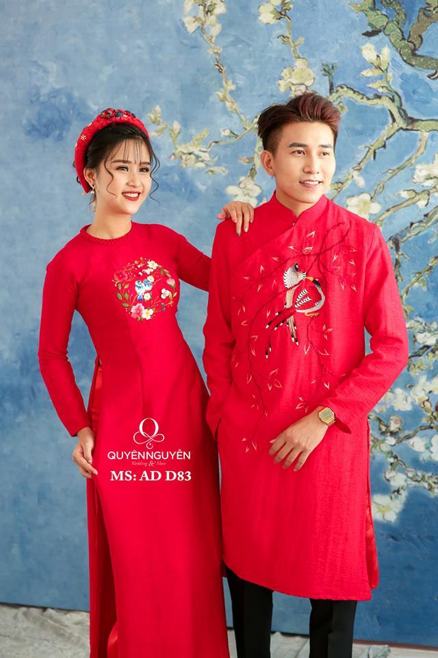 Áo dài đỏ AD D83