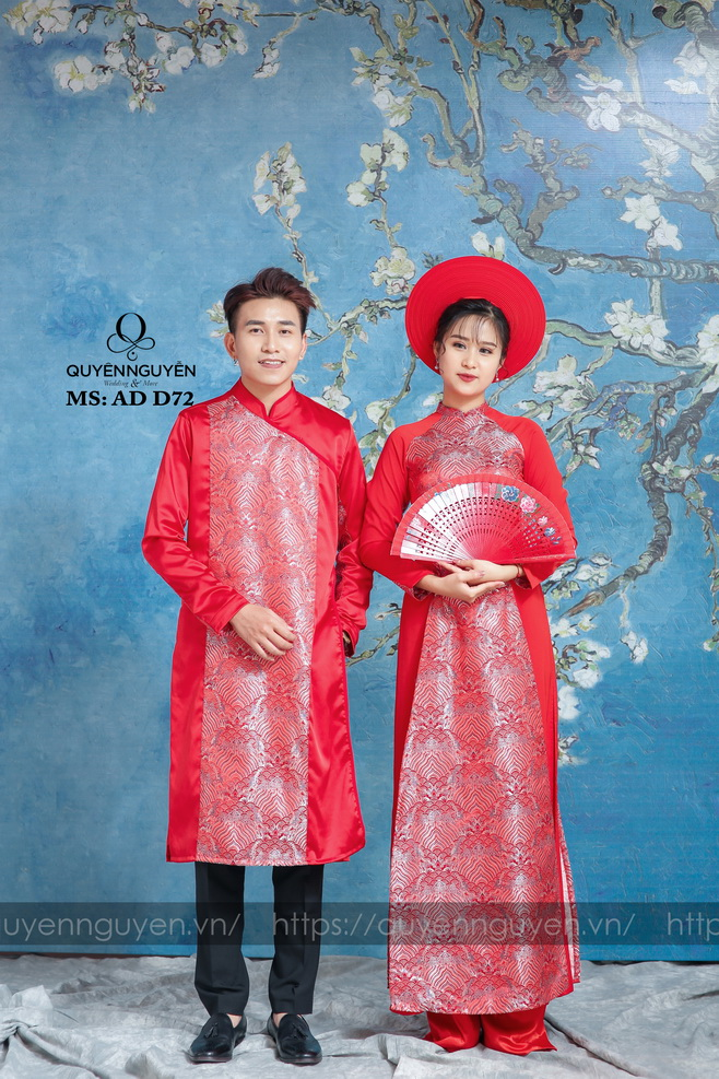 Áo dài đôi đỏ AD D72