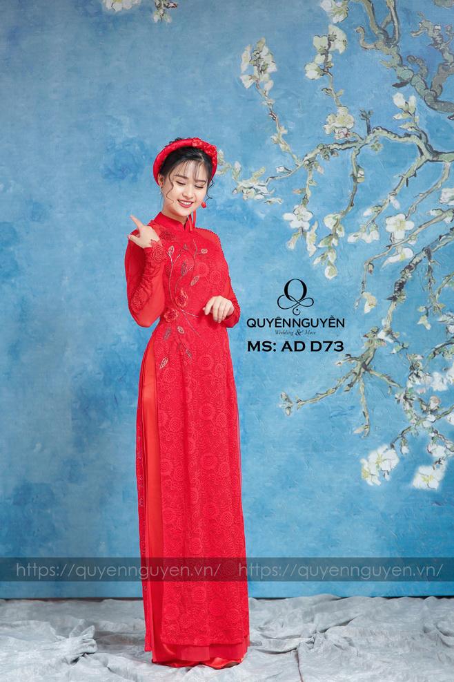 Áo dài đỏ AD D73